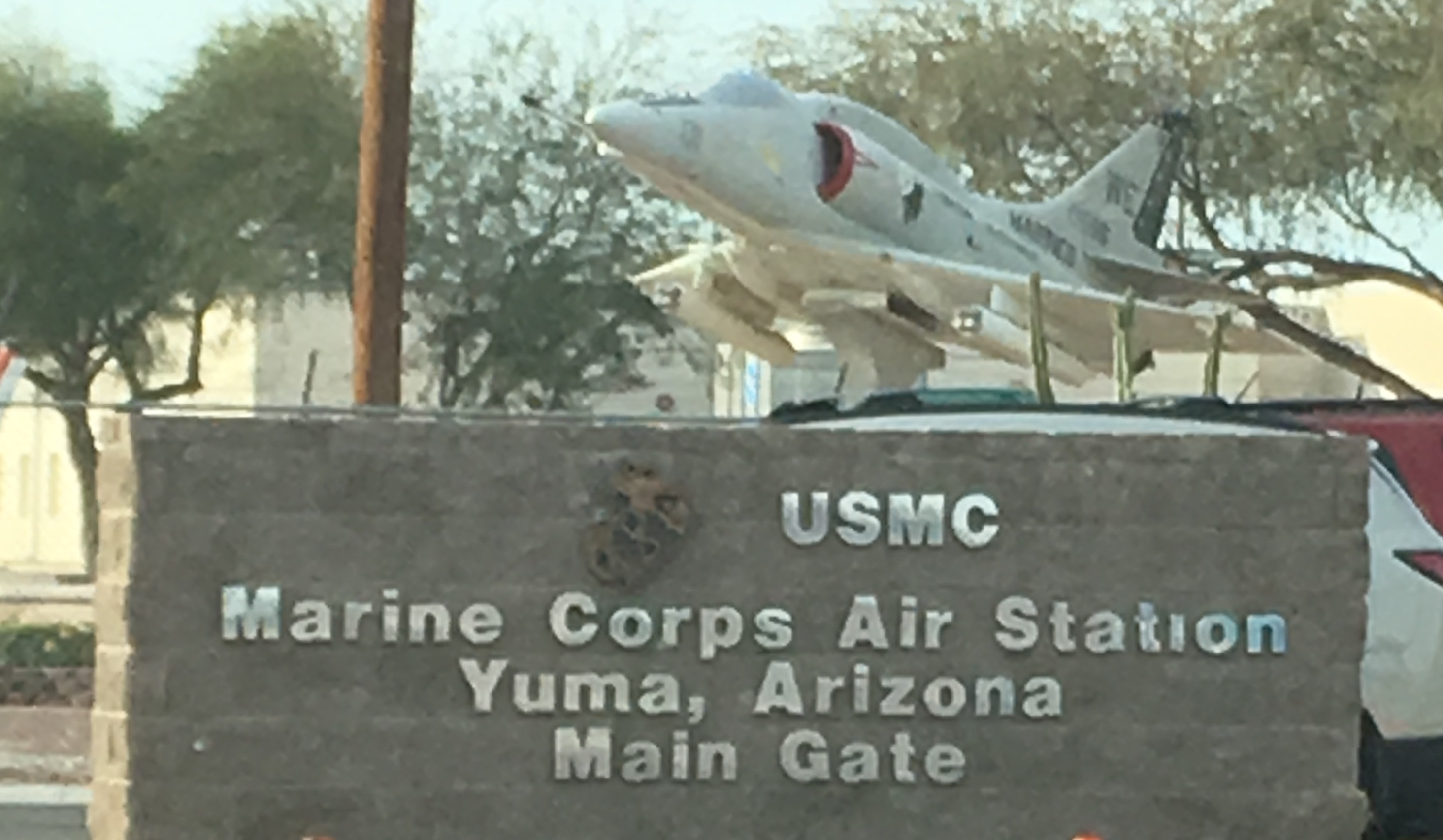 Marine Corps Air Station Yuma, Arizona Sign